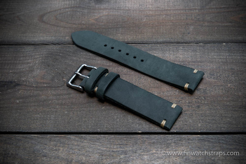 Leather watch strap, Horween Dusty Grey,handmade in Finland