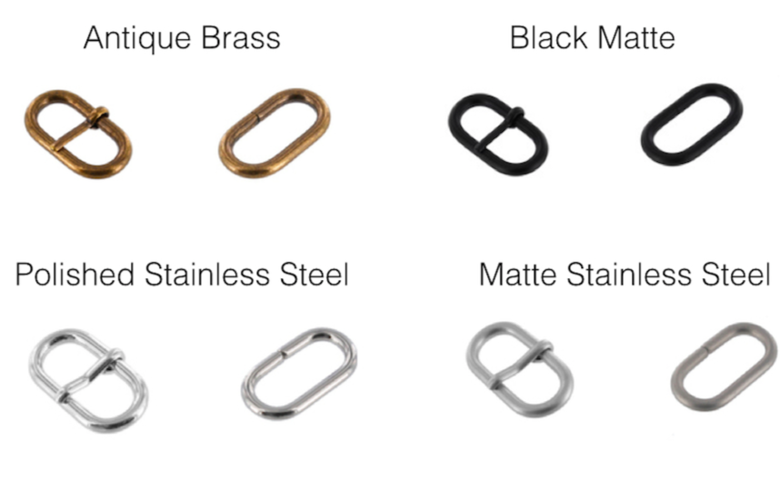 Zulu stainless steel buckle set (black, silver, bronze, brushed)
