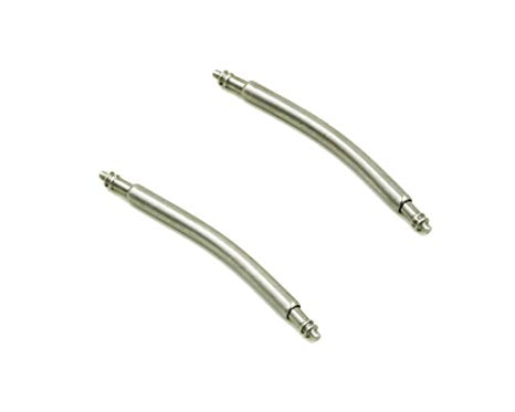 Curved spring bars (x2), Double Flange, diametere 1,5 mm