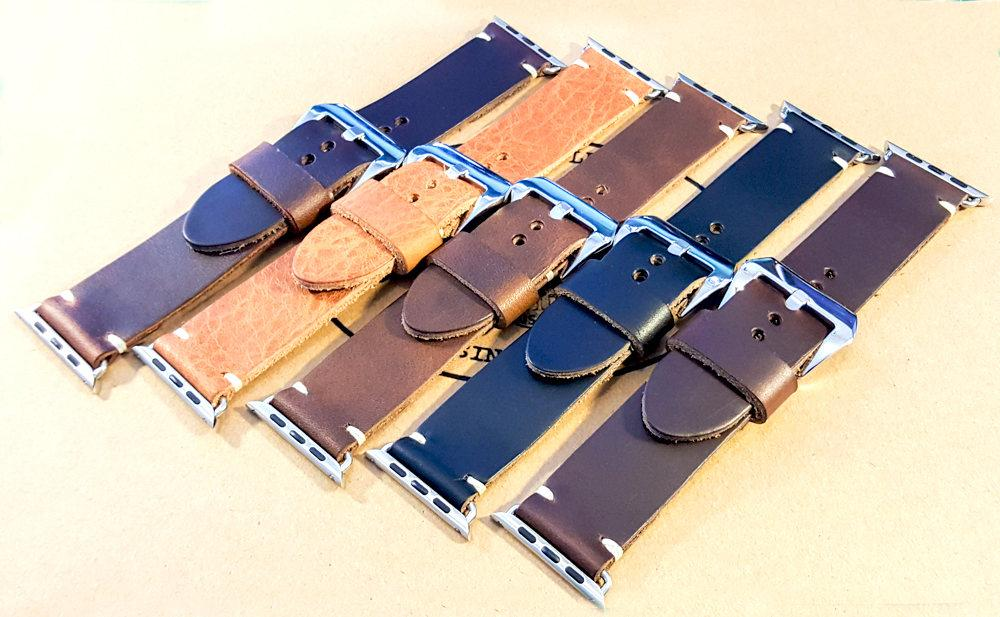 Apple Watch band 38mm/ 42mm, custom order, Horween leather - finwatchstraps