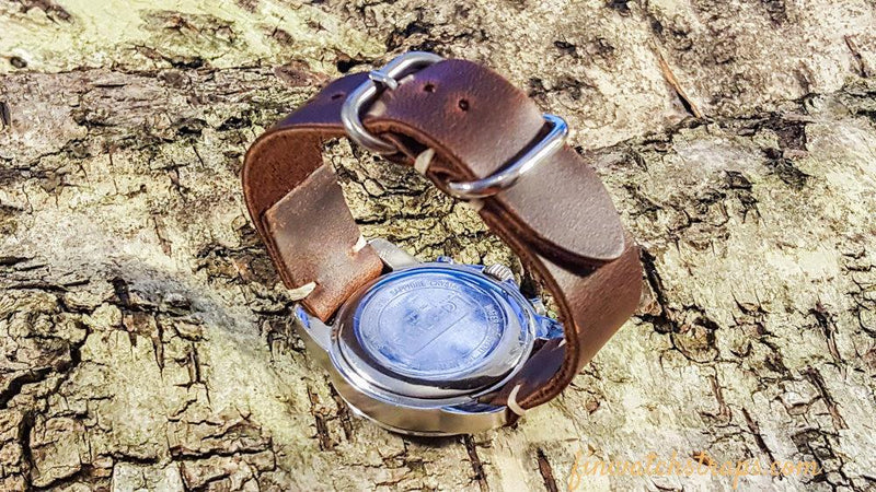 Phantom Waterproof Brown leather watch strap, 16 mm, 17 mm, 18 mm, 19 mm,  20mm, 21 mm, 22mm, 23 mm,  24mm.
