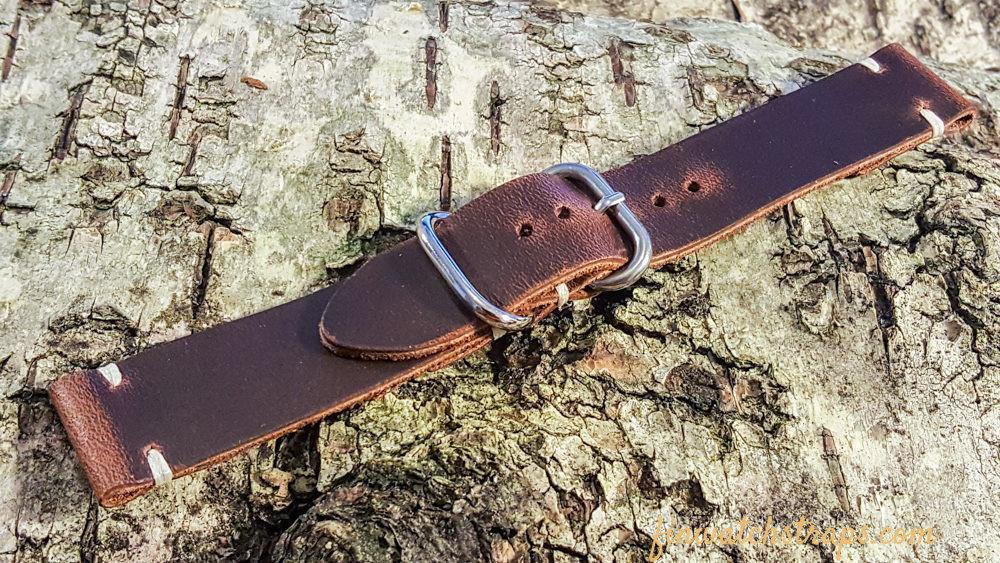 Phantom Waterproof Brown leather watch strap, 16 mm, 17 mm, 18 mm, 19 mm,  20mm, 21 mm, 22mm, 23 mm,  24mm. - finwatchstraps