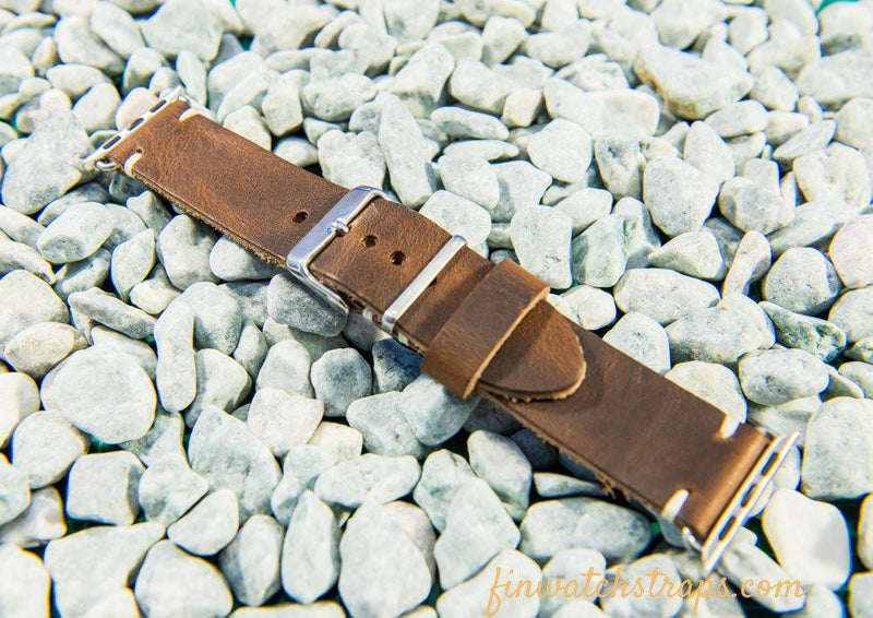 Apple Watch band Horween Derby Nut Brown 38mm, 42 mm.