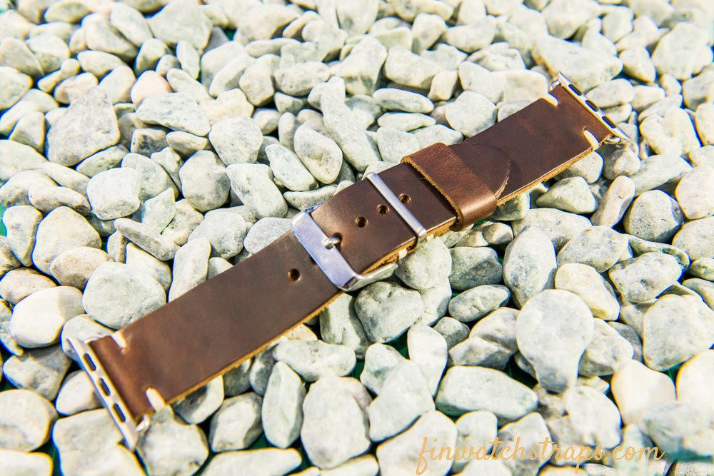 Apple Watch band 38mm, 42mm Brown Horween Chromexcel Pull-up Leather