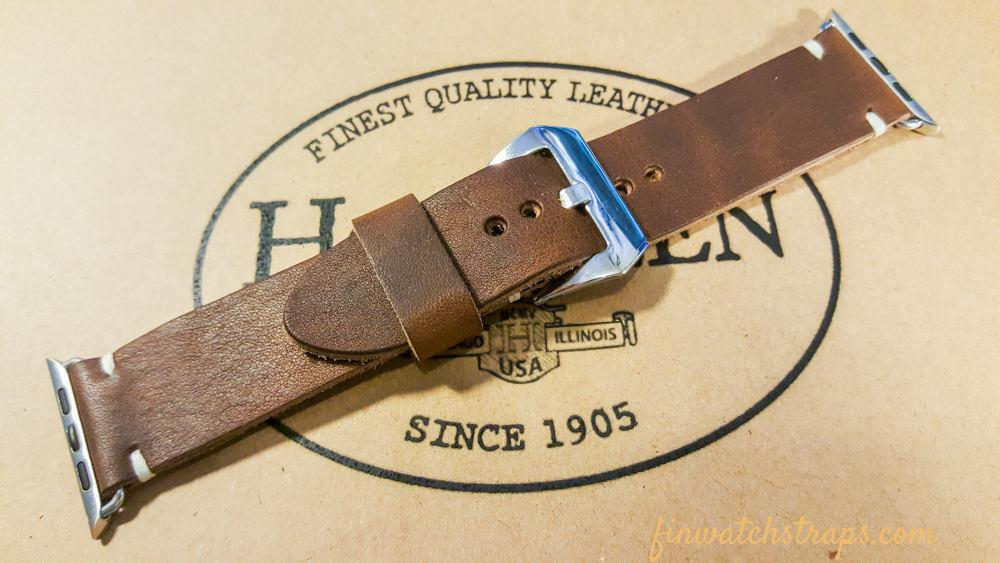Apple Watch band Horween Derby Nut Brown  38mm, 42mm. - finwatchstraps