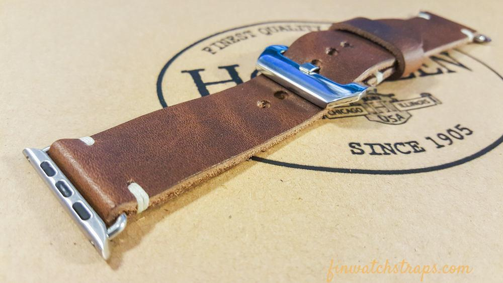 Apple Watch band Horween Derby Nut Brown  38mm, 42mm.