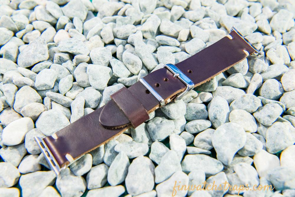 Apple Watch2,3,4,5 band, handmade artisan watch strap - finwatchstraps