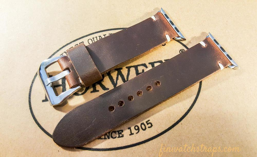 Apple Watch band Horween Phantom 38 mm, 40 mm, 42 mm, 44 mm.