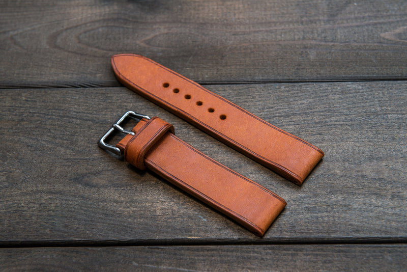 Badalassi Carlo, Pueblo Olmo leather watch strap 3-4 mm thick with lining, handmade in Finland. - finwatchstraps