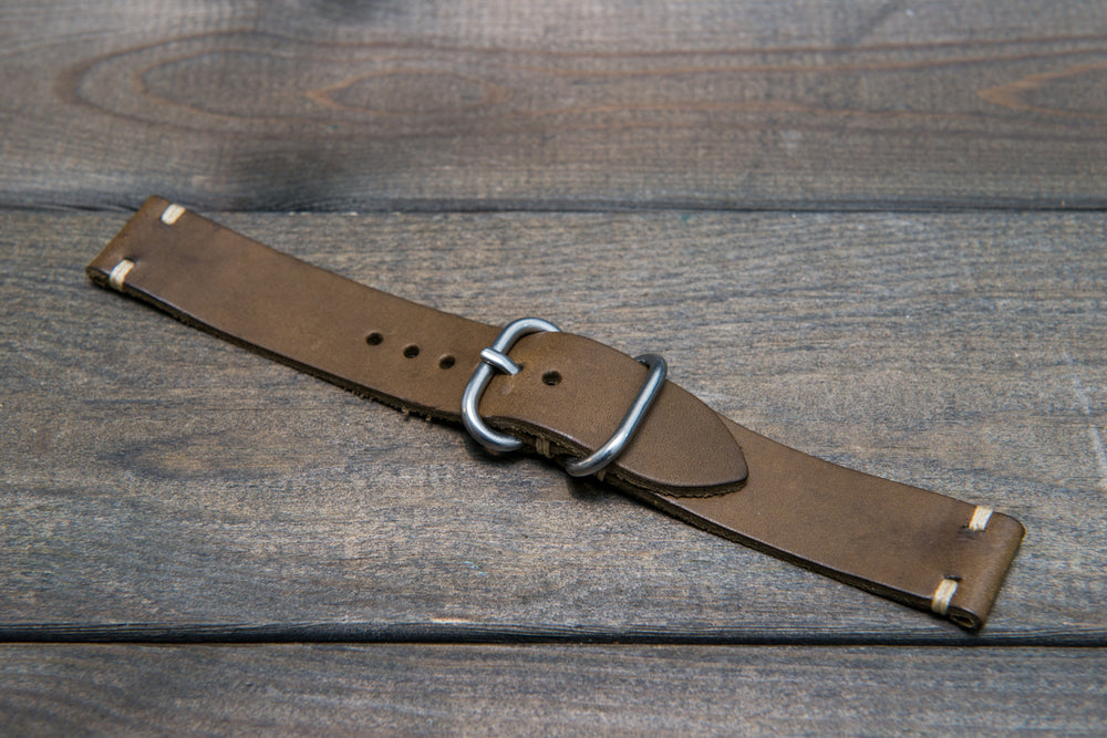 Badalassi Carlo, Minerva Tundra leather watch strap. Hand-made to order in Finland. - finwatchstraps