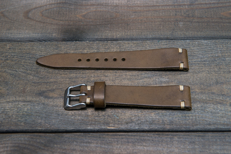Badalassi Carlo, Minerva Tundra tapered leather watch strap. Hand-made to order in Finland. - finwatchstraps