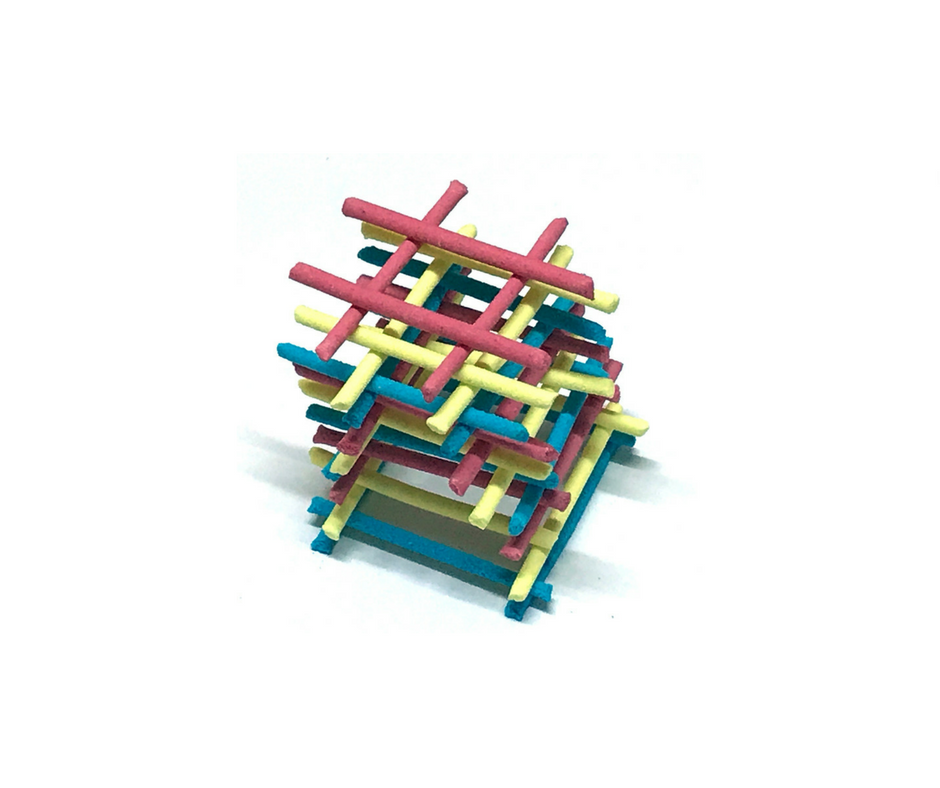 Square Tower Building with Candy Stix