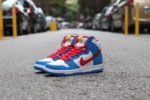 Nike Sb Dunk High Orange Label Doraemon