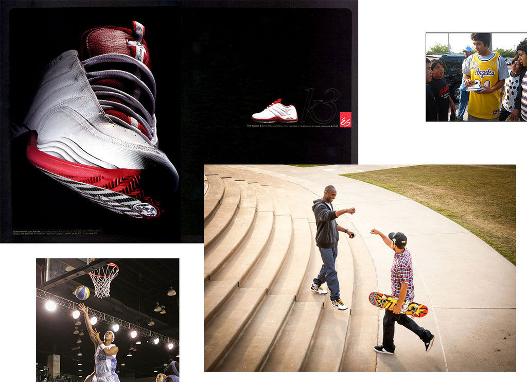 eric koston skateboard and basketball