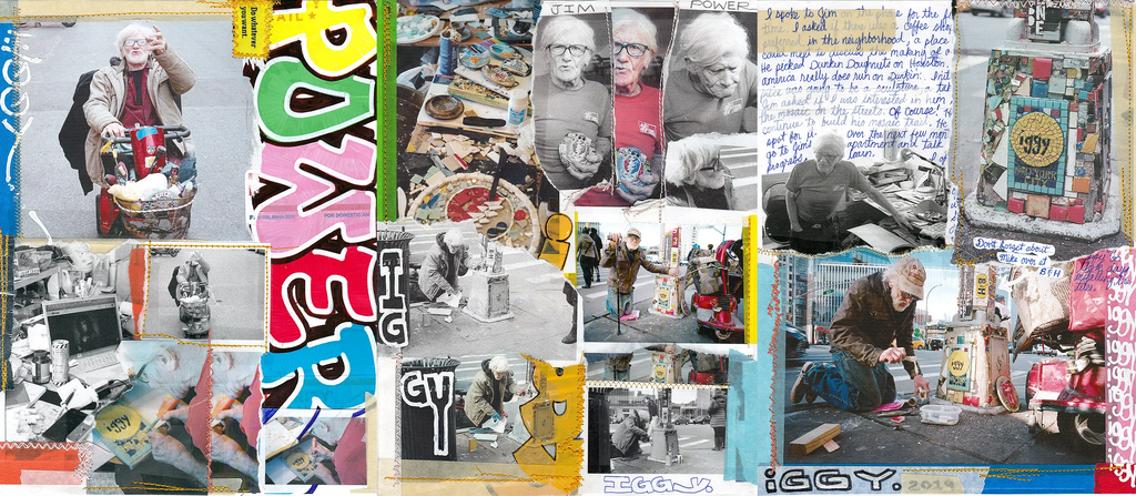 Iggy skateboard Collage