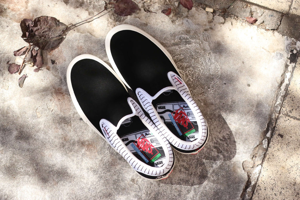 Peels nyc Slip on shoes collaboration with Vans