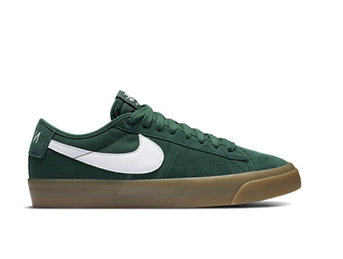 Nike SB Blazer Low GT, green and gum sole