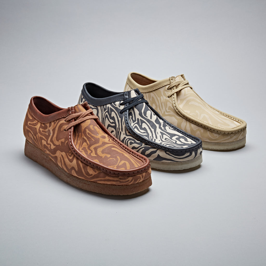 wu-wear x clarks original, wallabee