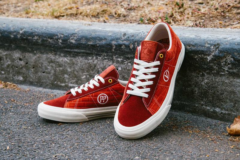 red vans passport shoes sid pro, white sole, white lace, street curb