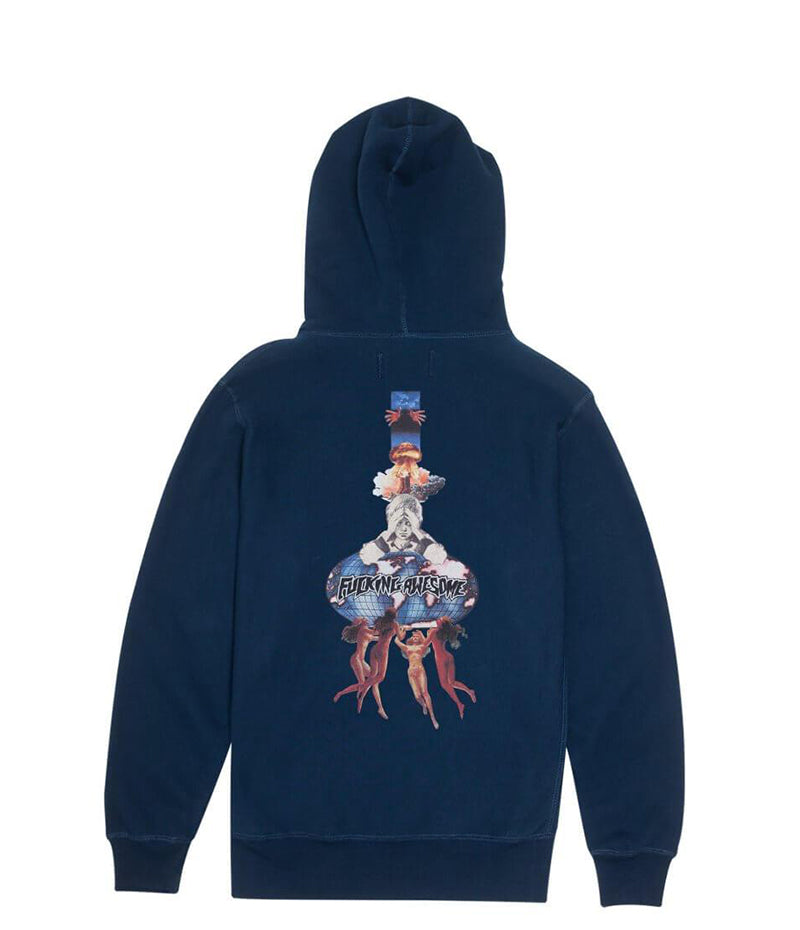 Fucking Awesome, World Kid, Navy Hoodie