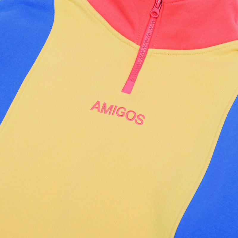 Amigos Fleece Three Quarters Zip Pullover