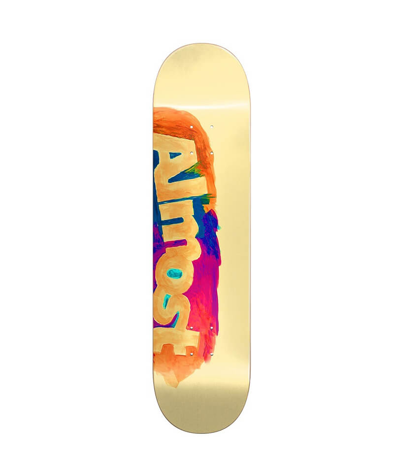 "Almost Skateboards, Side Smudge HYB Cream 8.25"" Deck"