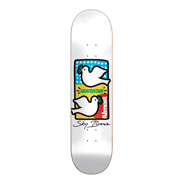 Almost Skateistan Double Doves R7  7.75 Deck