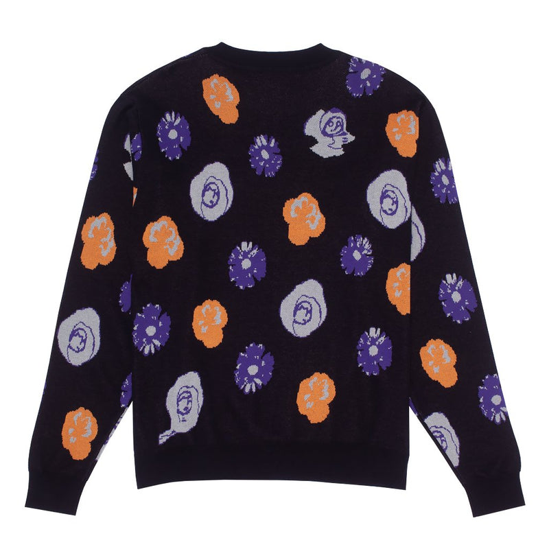 FA Botanical Knitted Black Sweater