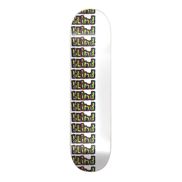 Blind logo Repeat Rail White, 7.75 Skateboard Deck