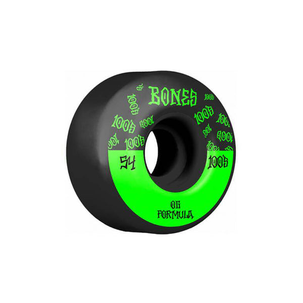 Bones Wheels OG Formula 100, 54mm V4 wide, Black Skateboard wheels