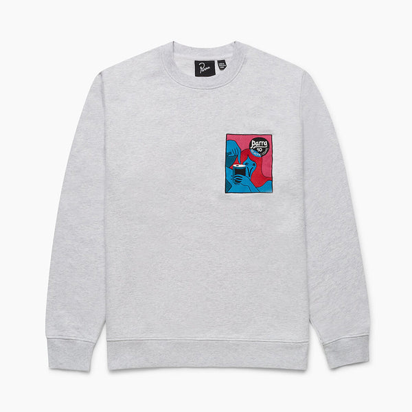 By Parra Neurotic Comic Grey Crewneck Sweatshirt