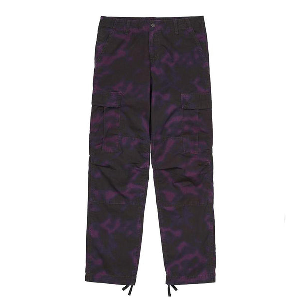 Carhartt Wip Regular Cargo Pant Purple Rinsed