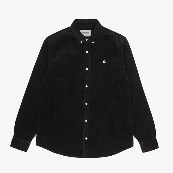 Carhartt Wip L/S Madison Cord Shirt Black Wax