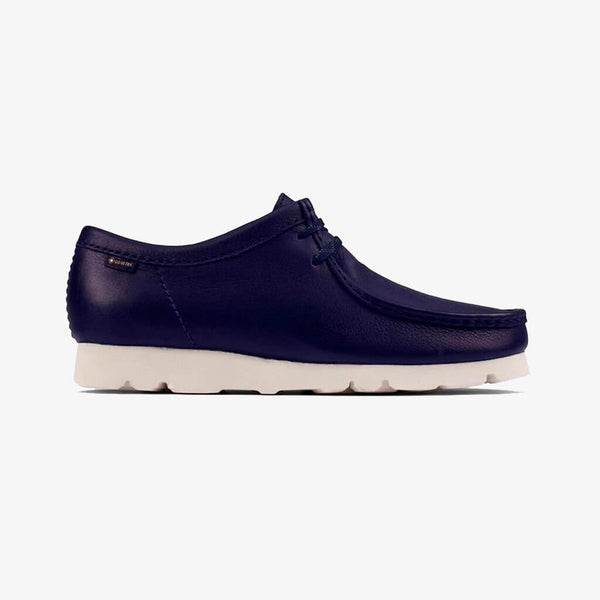 Clarks Originals Wallabee GTX Gore Tex Navy Leather