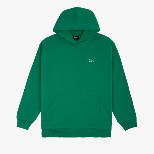 Dime Classic Small Logo Green Hoodie