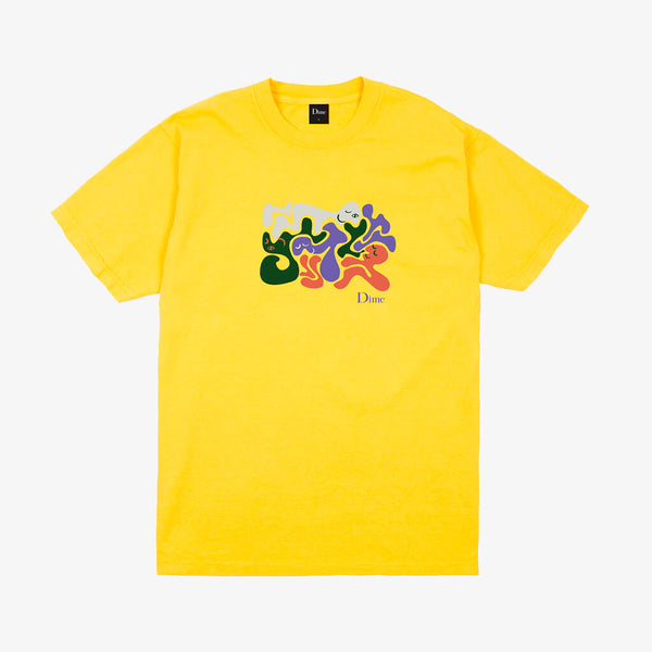 Dime MTL Laying Yellow T-Shirt