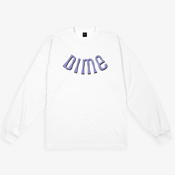 Dime MTL Whirl white Long Sleeves T-Shirt