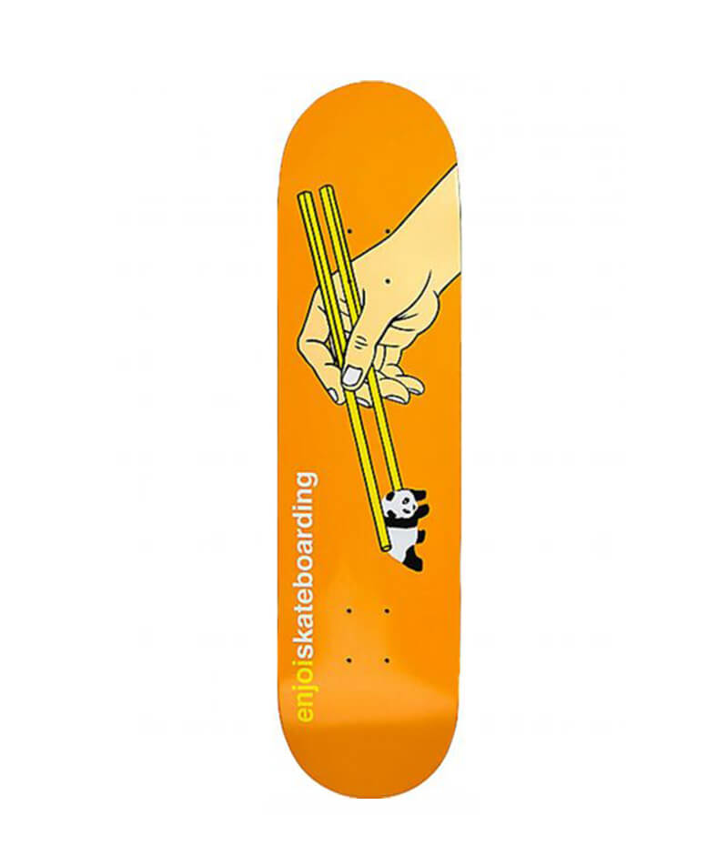 "Enjoi Skateboards Chopstick HYB 8.0"" Orange Deck"