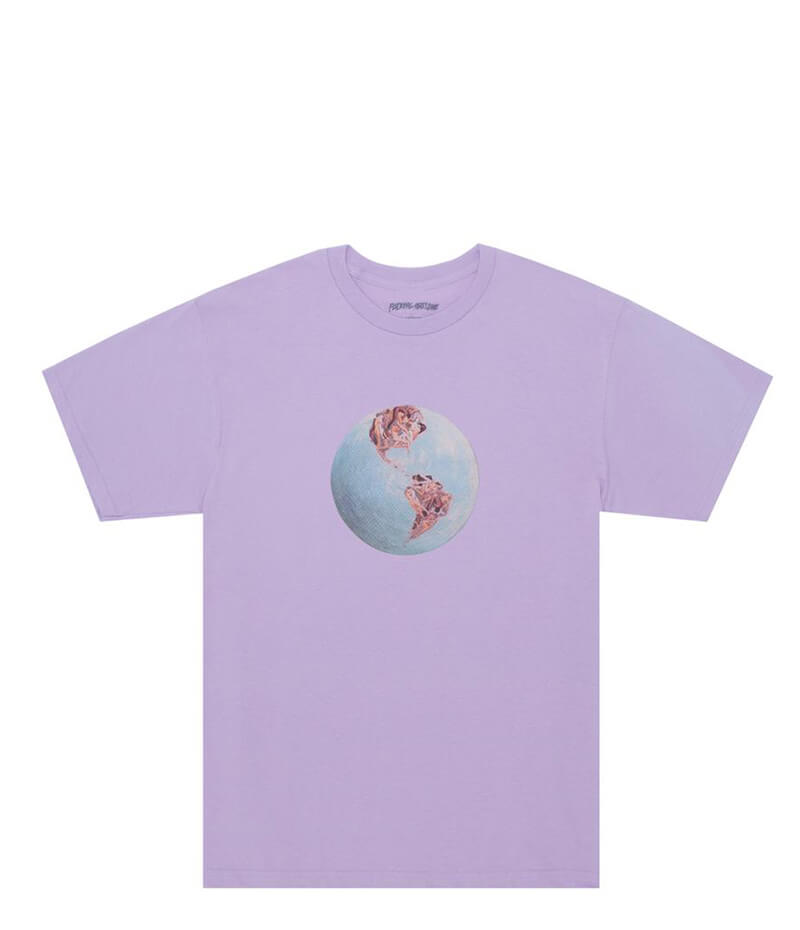 Fucking Awesome World Fucking Tee Orchid
