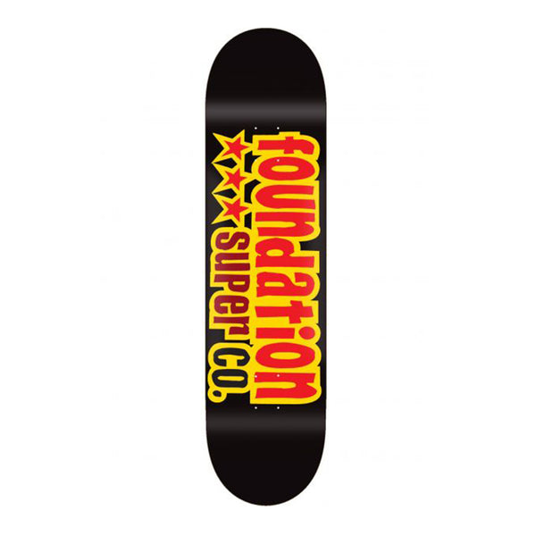 Foundation Skateboards, FS 3 Star Black 8.13 Deck