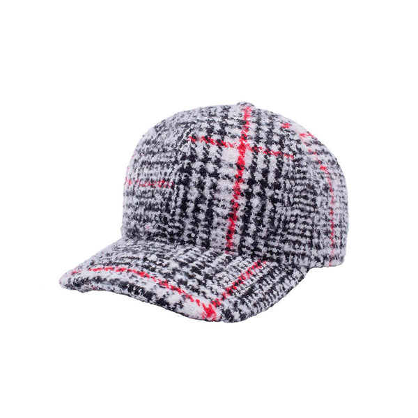 FA Flannel Pre-Curved Strap Leather Hat