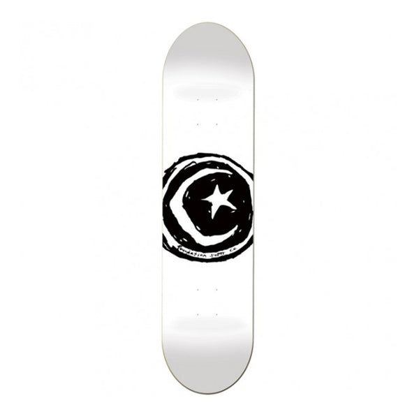 Foundation Skateboards, FS Star & Moon White 8.25 Deck