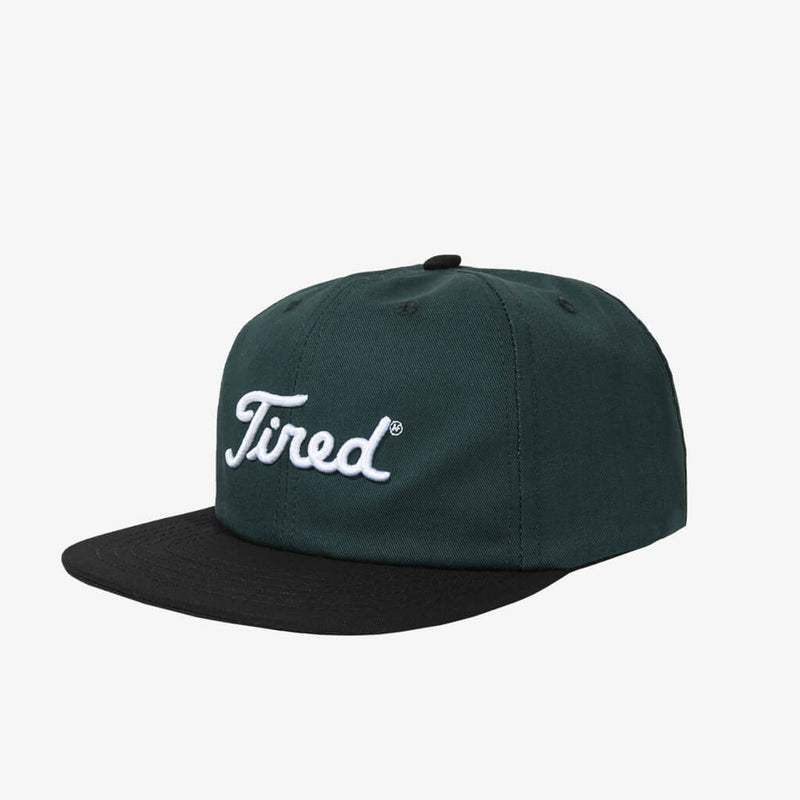 Tired Golf Logo Green Hat