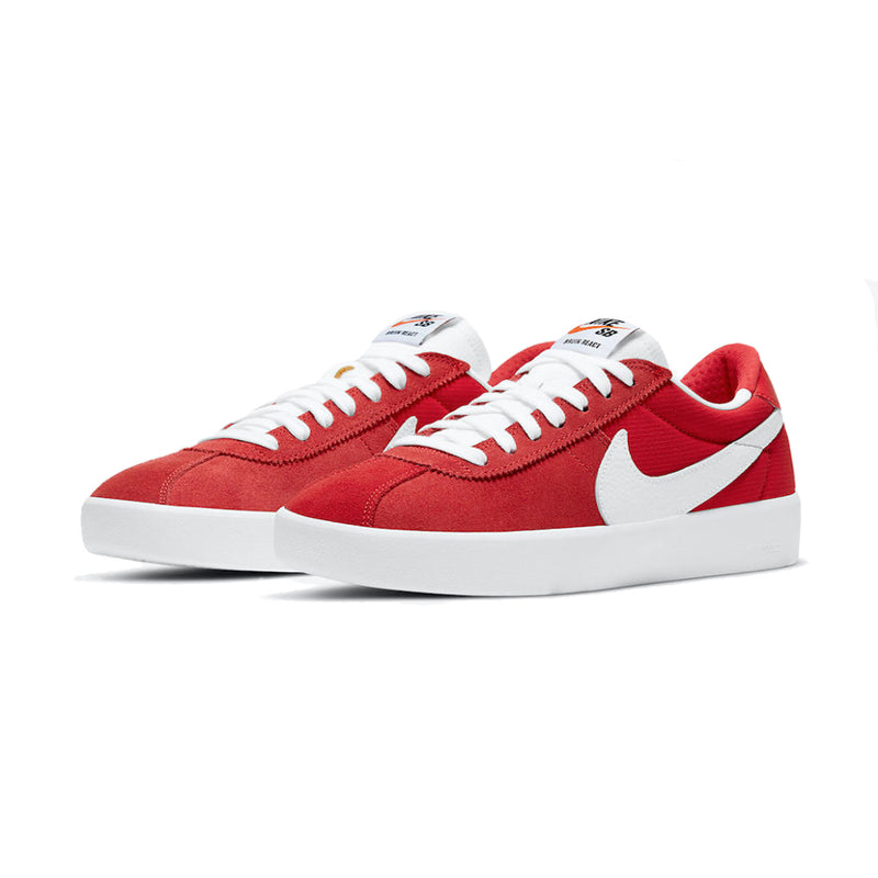 Nike SB bruin React red and white side view