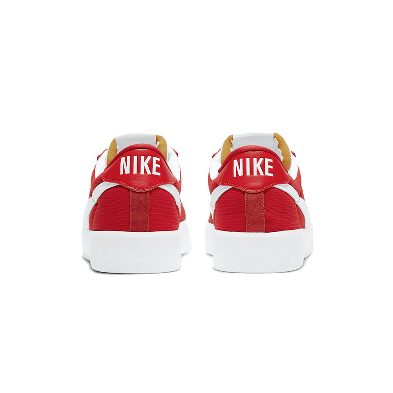 Back view of the buin react nike sb red and white