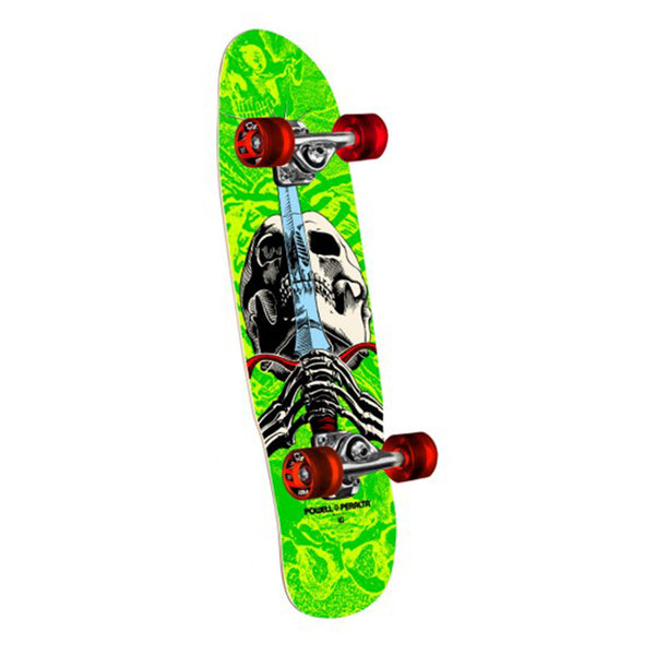 Powell Peralta Mini Skull & Sword Green 8.0 Cruiser Skate Deck