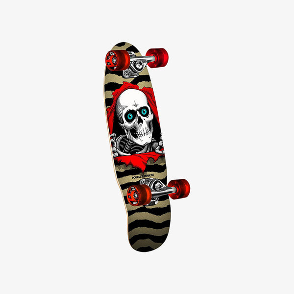"Powell Peralta Micro Mini Ripper II Gold 7.5"" Cruiser Skateboard Deck"