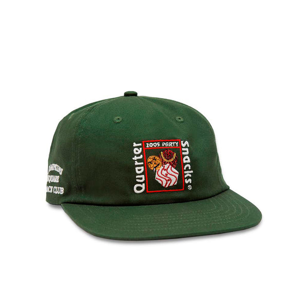 Quartersnacks Party Cap Forest Green