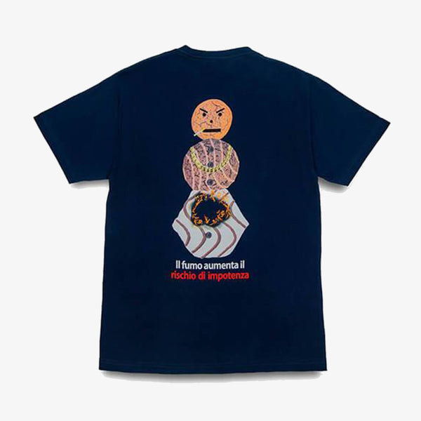 Quartersnacks Smokers Warning Snackman T-Shirt