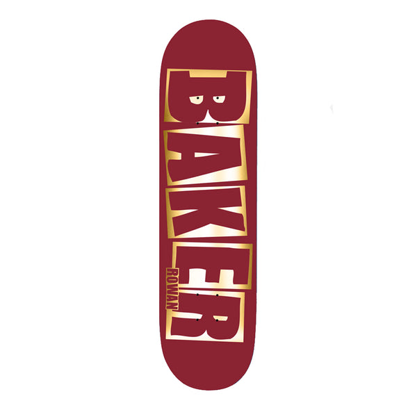 Baker Skateboards Rowan Brand Name Red foil B2 8.38 Skateboard Deck